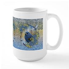 Bluebird Rose Ice And Lace Effect Design Mugs