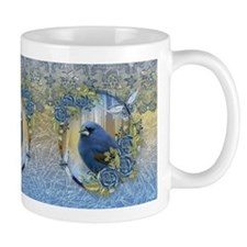Bluebird Rose Ice And Lace Effect Design Mug Mugs