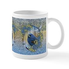 Bluebird Rose Ice And Lace Effect Design Mug Mugs