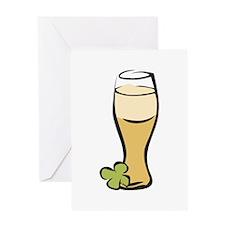 Irish Beer Glass Greeting Cards