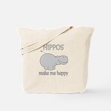 Hippo Happy Tote Bag