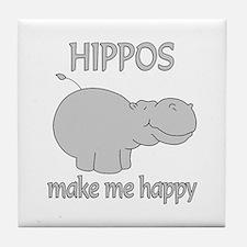 Hippo Happy Tile Coaster