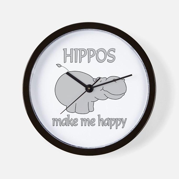 Hippo Happy Wall Clock