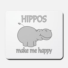 Hippo Happy Mousepad