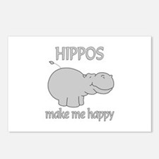 Hippo Happy Postcards (Package of 8)