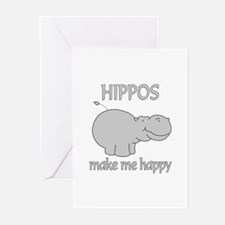 Hippo Happy Greeting Cards (Pk of 10)