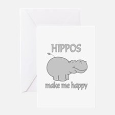 Hippo Happy Greeting Card