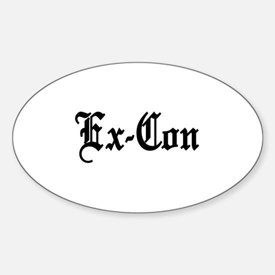 Ex-Con Oval Decal
