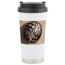 curled up pangolin Travel Mug
