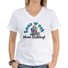 Less work more quilting T-shirts and gifts. T-Shir