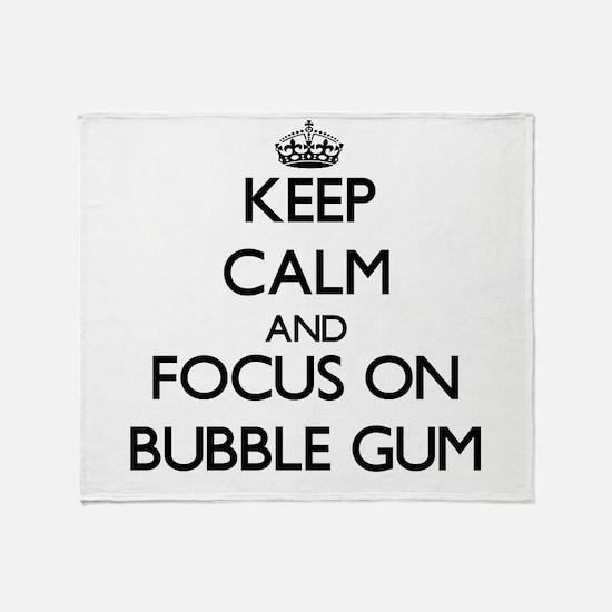 Cool Bubble gum Throw Blanket