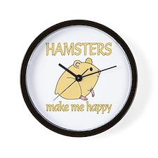 Hamster Happy Wall Clock