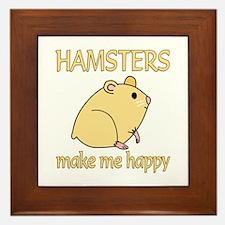 Hamster Happy Framed Tile