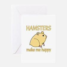 Hamster Happy Greeting Card