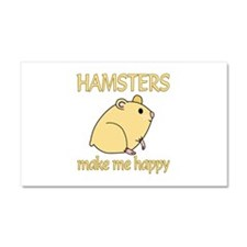Hamster Happy Car Magnet 20 x 12