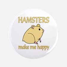 "Hamster Happy 3.5"" Button"