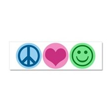 Cute Smile Car Magnet 10 x 3