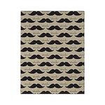 Mustache Vintage Retro Twin Duvet