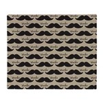 Mustache Vintage Retro Throw Blanket