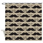 Mustache Vintage Retro Shower Curtain