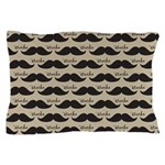Mustache Vintage Retro Pillow Case
