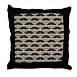 Mustache Vintage Retro Throw Pillow