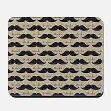 Mustache Vintage Retro Mousepad