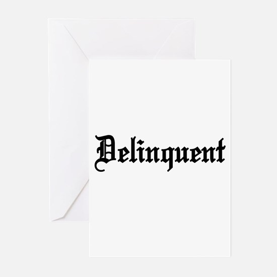 Delinquent Greeting Cards (Pk of 10)