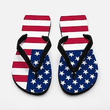 Patriotic American Flag Flip Flops