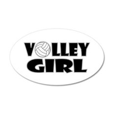Volley Girl 20x12 Oval Wall Decal