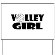 Volley Girl Yard Sign