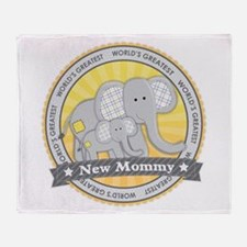 New Mom Elephant Throw Blanket