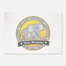 New Mom Elephant 5'x7'Area Rug