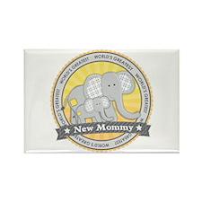 New Mom Elephant Rectangle Magnet