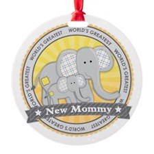 New Mom Elephant Ornament