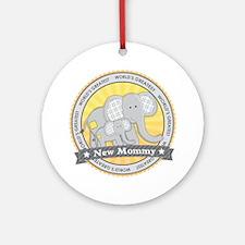 New Mom Elephant Ornament (Round)