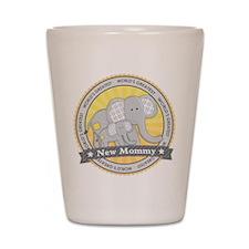 New Mom Elephant Shot Glass