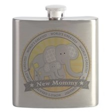 New Mom Elephant Flask