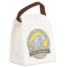 New Mom Elephant Canvas Lunch Bag