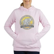 New Mom Elephant Women's Hooded Sweatshirt