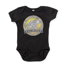 New Mom Elephant Baby Bodysuit