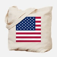 Patriotic American Flag Tote Bag