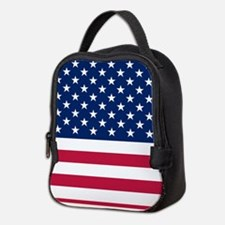 Patriotic American Flag Neoprene Lunch Bag