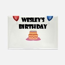 Wesley's Birthday Rectangle Magnet