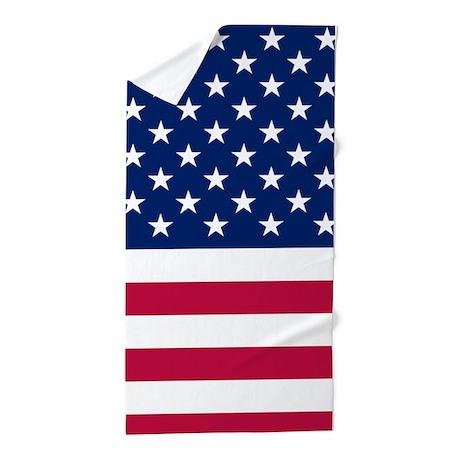 Patriotic American Flag Beach Towel By Flagfashion