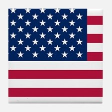 Patriotic American Flag Tile Coaster