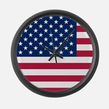 Patriotic American Flag Large Wall Clock