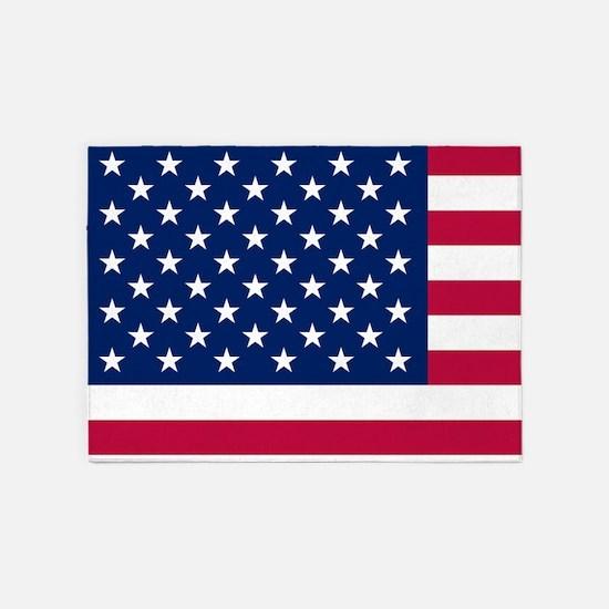Patriotic American Flag 5'x7'Area Rug