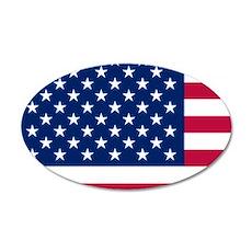 Patriotic American Flag Wall Decal