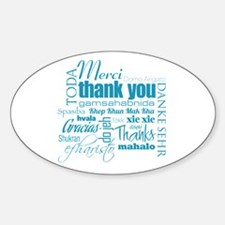 Thank You - Oval Decal